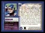 2000 Topps #348   -  Ron Powlus Eminant Prestige Back Thumbnail