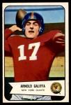 1954 Bowman #122  Arnold Galiffa  Front Thumbnail