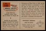 1954 Bowman #122  Arnold Galiffa  Back Thumbnail
