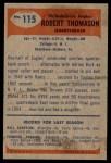 1955 Bowman #115  Bob Thomason  Back Thumbnail
