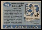 1955 Topps #26  Larry Kelley  Back Thumbnail