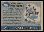 1955 Topps #96  Bill Hollenback  Back Thumbnail