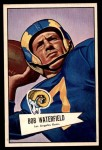 1952 Bowman Large #137  Bob Waterfield  Front Thumbnail