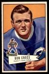 1952 Bowman Large #102  Robert Joe Cross  Front Thumbnail