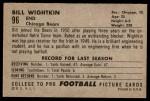 1952 Bowman Large #96  Bill Wightkin  Back Thumbnail