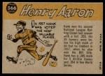 1960 Topps #566   -  Hank Aaron All-Star Back Thumbnail