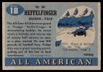 1955 Topps #18  Pudge Heffelfinger  Back Thumbnail