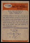 1955 Bowman #146  Walt Michaels  Back Thumbnail