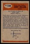1955 Bowman #144  Jerry Helluin  Back Thumbnail