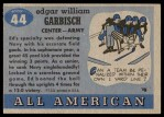 1955 Topps #44  Ed Garbisch  Back Thumbnail