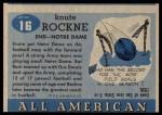 1955 Topps #16  Knute Rockne  Back Thumbnail