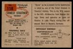 1954 Bowman #118  Ernie Stautner  Back Thumbnail
