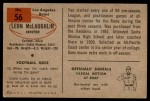 1954 Bowman #56  Leon McLaughlin  Back Thumbnail