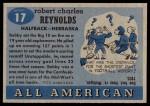 1955 Topps #17  Bob Reynolds  Back Thumbnail