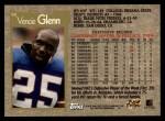 1996 Topps #58  Vencie Glenn  Back Thumbnail
