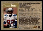 1996 Topps #86  Vincent Brisby  Back Thumbnail