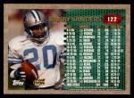 1996 Topps #122   -  Barry Sanders 1000 Yard Club Back Thumbnail
