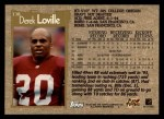 1996 Topps #138  Derek Loville  Back Thumbnail