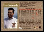 1996 Topps #319  Vinny Testaverde  Back Thumbnail