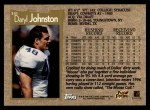 1996 Topps #341  Daryl Johnston  Back Thumbnail