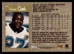 1996 Topps #342  Vinnie Clark  Back Thumbnail