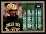 1996 Topps #371   -  Brett Favre 3000 Yard Club Back Thumbnail