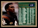 1996 Topps #378   -  Jeff Blake 3000 Yard Club Back Thumbnail