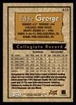 1996 Topps #435  Eddie George  Back Thumbnail