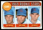 1969 Topps #602 xVIS  -  Alec Distaso / Don Young / Jim Qualls  Cubs Rookies Front Thumbnail