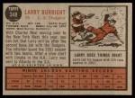 1962 Topps #348  Larry Burright  Back Thumbnail