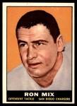 1961 Topps #168  Ron Mix  Front Thumbnail