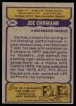 1979 Topps #29  Joe Ehrmann  Back Thumbnail