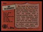 1987 Topps #52  Jay Hilgenberg  Back Thumbnail