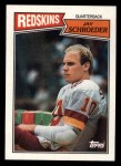 1987 Topps #64  Jay Schroeder  Front Thumbnail