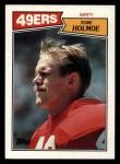 1987 Topps #124  Tom Holmoe  Front Thumbnail