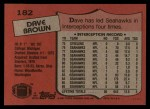 1987 Topps #182  Dave Brown  Back Thumbnail