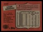 1987 Topps #197  Louis Breeden  Back Thumbnail