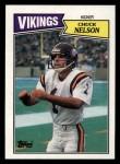 1987 Topps #205  Chuck Nelson  Front Thumbnail