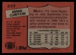 1987 Topps #237  Mark Clayton  Back Thumbnail