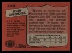 1987 Topps #244  John Offerdahl  Back Thumbnail
