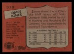 1987 Topps #319  James Jones  Back Thumbnail