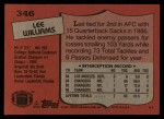 1987 Topps #346  Lee Williams  Back Thumbnail