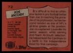 1987 Topps #72  Joe Jacoby  Back Thumbnail