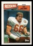 1987 Topps #72  Joe Jacoby  Front Thumbnail