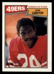 1987 Topps #122  Don Griffin  Front Thumbnail