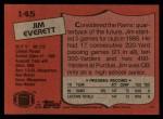 1987 Topps #145  Jim Everett  Back Thumbnail