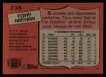 1987 Topps #235  Tony Nathan  Back Thumbnail