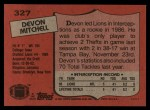 1987 Topps #327  Devon Mitchell  Back Thumbnail