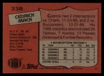 1987 Topps #338  Cedric Mack  Back Thumbnail