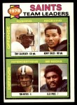1979 Topps #451   Saints Leaders Checklist Front Thumbnail